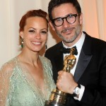 Actress Berenice Bejo and director Michel Hazanavicius  (Photo by Stefanie Keenan/Getty Images for Chopard)