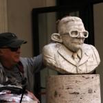 La statua di Andreotti, foto Rodolfo Mazzoni