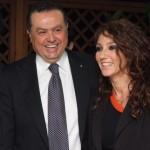 Il Presidente Sassun con Fanny Cadeo, foto stampa