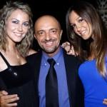 Corrado Fumagalli con Alice Brambilla e Stefy Cattaneo, foto stampa