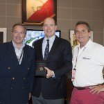 Alberto II di Monaco con il vice presidente Karl-Friedrich Scheufele e Jacky Ickx, foto stampa