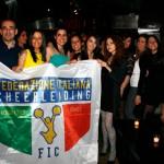 Il party con il logo della Federazione, foto stampa