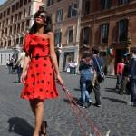 Veronique Francourt veste Michele Miglionico, foto stampa