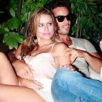 Lola con il fidanzato Aron, foto stampa