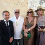 Gianni Petrucci, Ricky Tognazzi, Monica Scattini e Simona Izzo, foto stampa