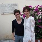 il regista Salvatore Allocca con Francesca Inaudi, foto stampa