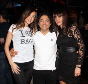 Claudio Chiappucci con Stefy Cattaneo e Laura Scaravonati, foto stampa