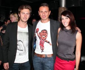 Marco con Stefania Andriola e Daniele Colli, foto stampa