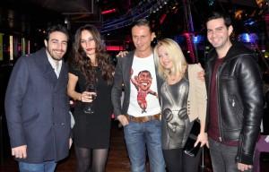 Marco con Giulia Ponsi, Ale Lippi, Andres Diamond Dj Tv e Daisy Lo, foto stampa