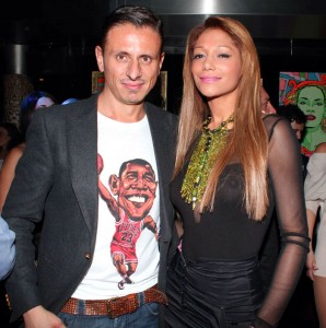 Marco con Aline Domingos, foto stampa