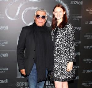 Roberto Cavalli e Sophie Ellis Bextor, foto stampa