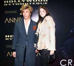 Leonardo Bongiorno con un'amica, foto stampa