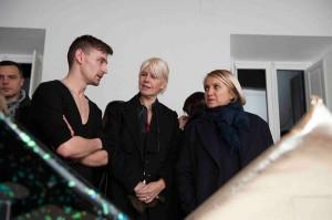 Simone Rainer con Silvia Venturini Fendi, foto stampa