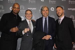 Geoffroy Faye - Laurence Franklin, CEO Frette - Simone Bocchio - Giorgio Cantagalli, foto stampa