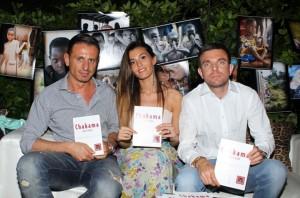 Vanessa Contini con Marco Pizzera e il PR Marco Bacini, foto stampa