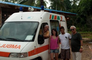 Stefania presso la struttura a Zanzibar, foto stampa