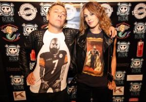 Ringo e la fidanzata Rachele, foto stampa