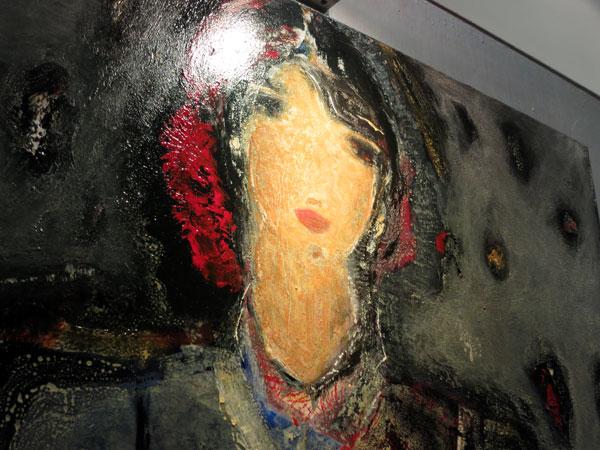 Un particolare di un quadro dell'artista, foto di Rodolfo Mazzoni