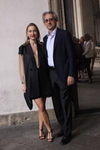 Michela Bruni Reichlin con il marito Riccardo Gambaccini, foto stampa