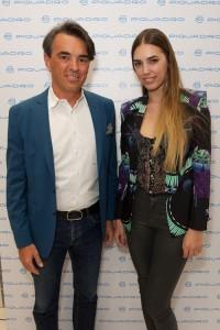 Marco Palmieri ed Amber Le Bon, foto stampa