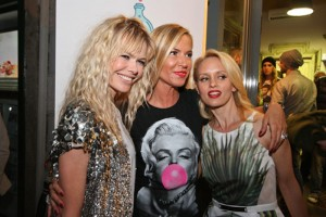 Federica con Justine Mattera e Barbara Snellenburg, foto stampa