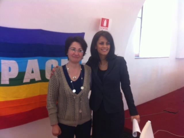 La VicePresidente con Hannen Zoabi, foto stampa