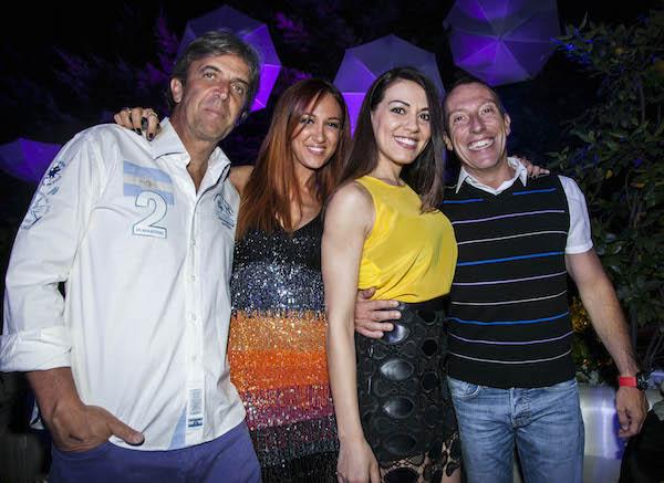 Stefy e Paolo con Mino Taveri e Ylenia di Radio105, foto stampa