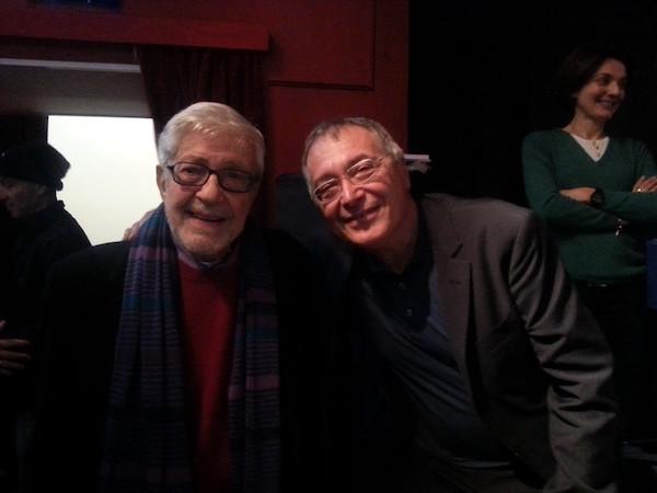 Il Maestro Ettore Scola e Renato Giordano, foto stampa
