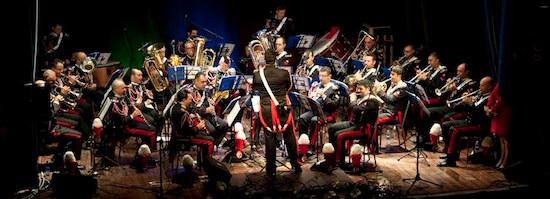 """sesto san giovanni - milano (lombardia): concerto """"inno al volontariato"""" della fanfara del III battaglione carabinieri """"lombardia"""", foto stampa"""