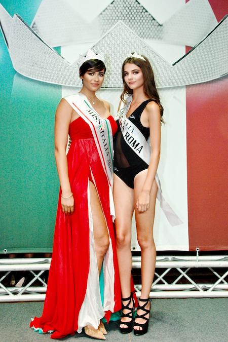 Miss Italia 2015 Alice Sabatini con Valentina Oteri, foto Mauro Proia