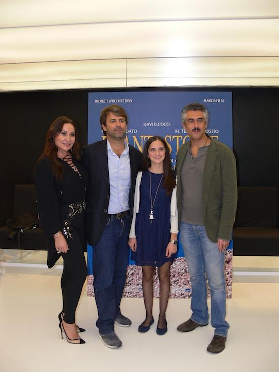 Il cast durante la presentazione a Roma, foto Andrea Marangoni