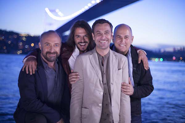 Da sin. Halit Ergenc, Mehmet Günsür, Nejat Isler, Ferzan Ozpetek, foto stampa