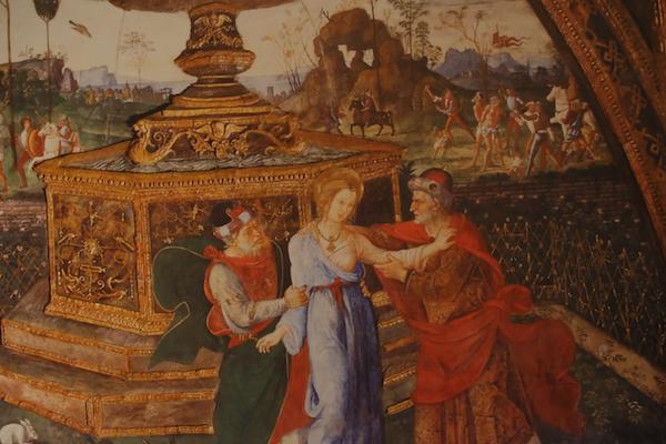 Un particolare del Pintoricchio, foto di Rodolfo Mazzoni