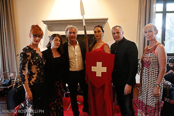 Da sx Vanessa Mini, Manuela Soldati, Massimo Giletti, Madre Helvetia, Angela Tuccia, foto Mauro Rosatelli
