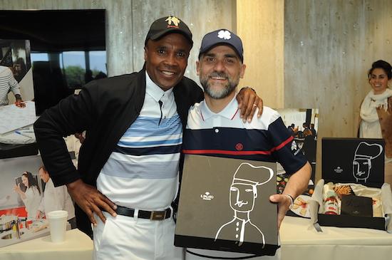 Lo Chef con il mitico Sugar Ray Leonard, foto stampa