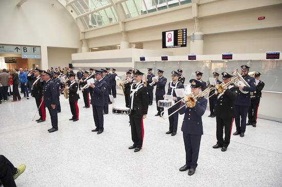 "la Fanfara del Comando della 1a Regione Aerea e la Fanfara del 3° Reggimento Carabinieri ""Lombardia"", foto stampa"