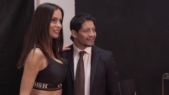 Pietro Piacenti con Antonella Mosetti, foto stampa