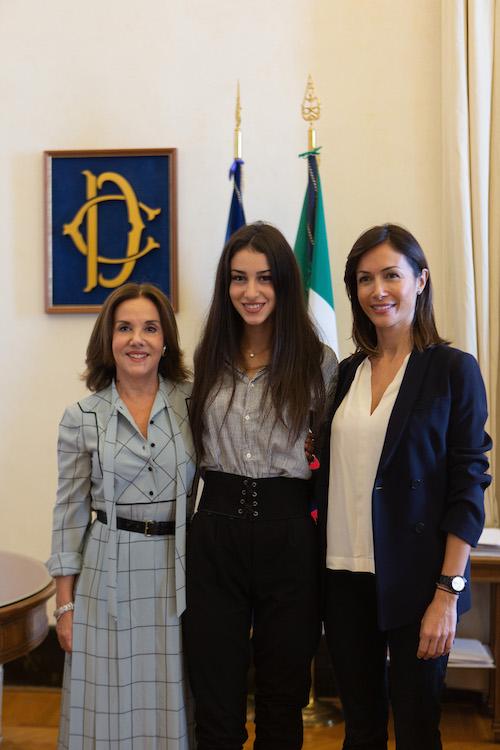 La vice Presidente della Camera con Chiara Bordi, foto stampa