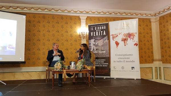 La presentazione con Fanny Cadeo che intervista Guido Travan, foto UTV